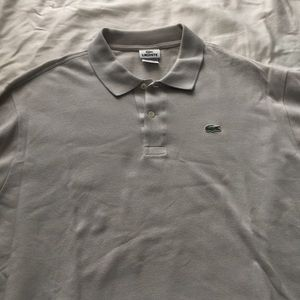 Light Gray Men's Lacoste polo